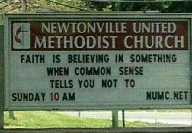 faith verses common sense