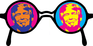trump colored glasses