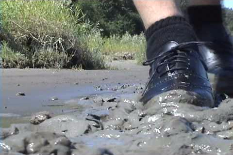 muddy shoes