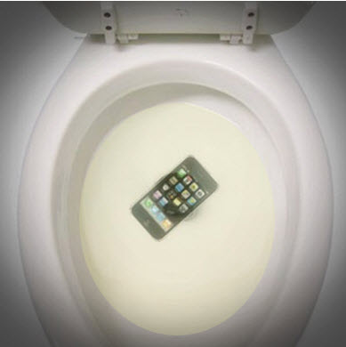 iPhone in the toilet