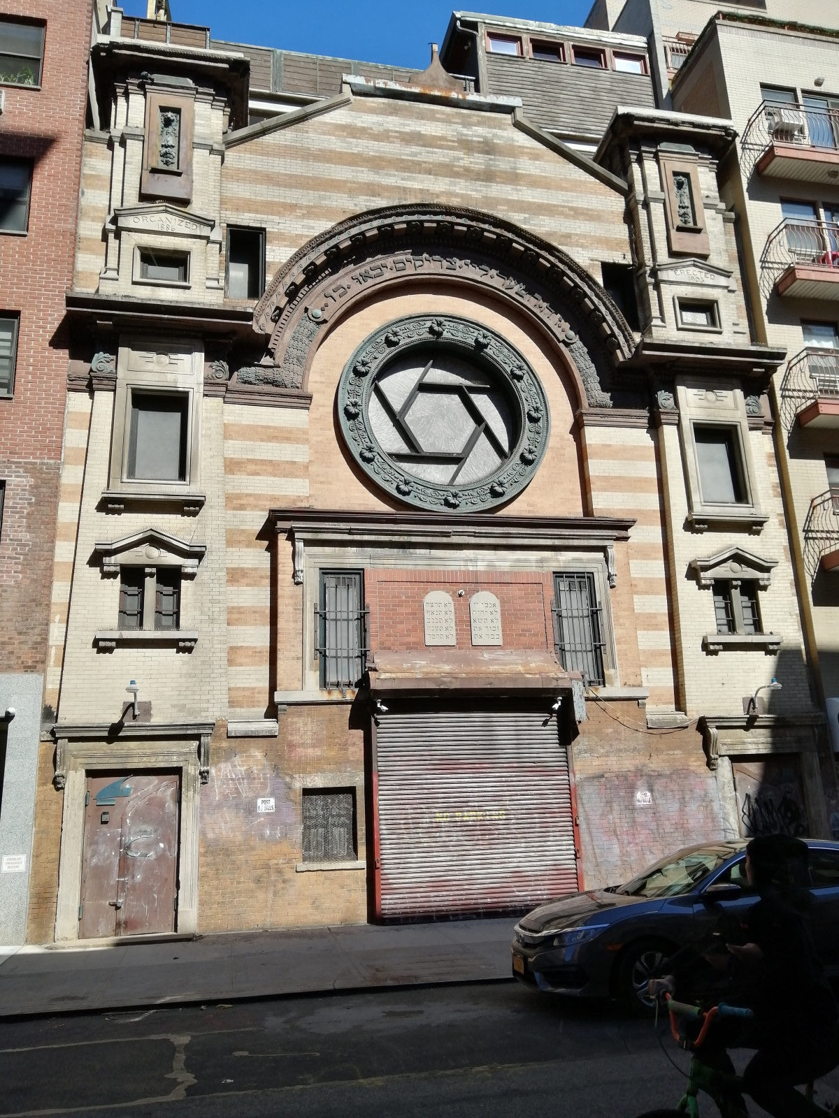 Shuttered synagogue